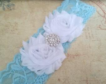 Blue Bridal Garter, Something Blue Stretch Lace Garter, Keepsake Garter, Toss Garter,  Blue Wedding Garter,  Bridal Garter