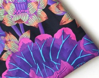 Kaffe Fassett Lake Blossoms Fabric, Black GP 93, 2014 Fabric, Rare, OOP, HTF