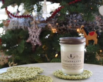 Timberline Soy Wax Candle/ Blue spruce scented candle/woodsy scented essential oil candle/Pacific Northwest Candle/made in Oregon