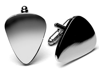 Guitar Pick Cufflink (Plectrum) Great Gift for Men!!!! Great Christmas Gift!!!