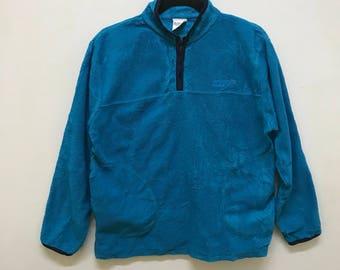 Benetton Formula 1 Pullover Half Zipper Small Logo Spellout Embroidered