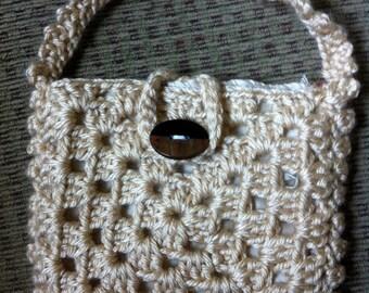 Crocheted Granny Square Purse #129