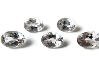 White Topaz Oval 8x6mm, Faceted White Topaz, 1 Natural Faceted Gemstone, Jewellery Supplies UK