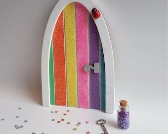 Fairy Door, Fairy Theme Gift, Rainbow Fairy Door, Fairy Door Kit, Tooth Fairy Door, Miniature Door, Magic Door, Fairy Gift Set, Girls Gift