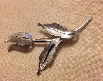 Van Dell Sterling Tulip Flower Brooch