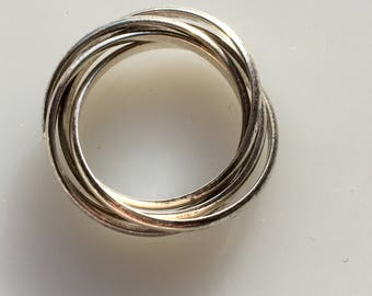 Silver Entwined Rings