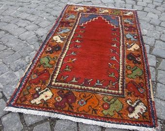 small vintage rug, moroccan rug, anatolian rug, tribal rug, home rug, floor rug, beni ourain rug, 457
