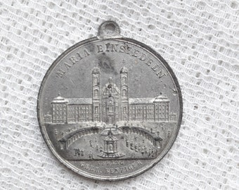 Antique Benedictine Medal - Sancta Maria Einsidlensis - Einsiedeln Abbey - Back Virgin