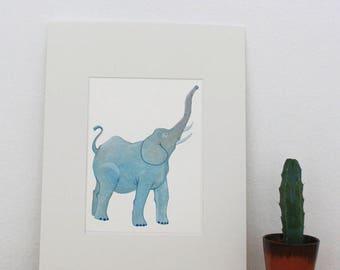 "Original illustration of ""Elephant"" - gouache"