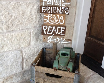 Reclaimed FUN Welcoming wood Signs on a stake This one READY To ship and priced to sell