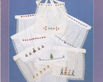 Sal-Em Aprons For Counted Cross Stitch Leaflet by Carolina Cross Stitch, Inc.