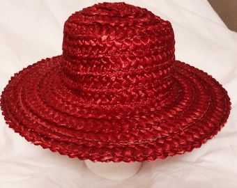 Donnybrook Red Cellophane Straw Hat