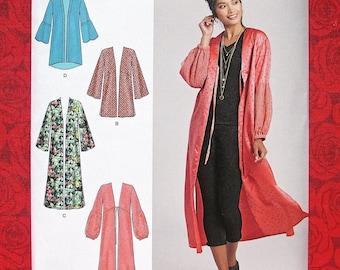 Simplicity 8553 Easy Sewing Pattern Kimono Jacket Hi Lo Coat, Misses & Plus Sizes Xxs Xs S M L xL XxL, DIY Summer Fall Fashion Accent, UNCUT