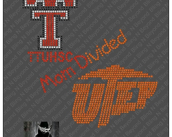 Custom House Divided Shirts.. You give us the logos and we make the bling - Tech - UTEP