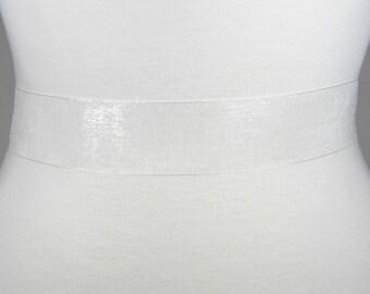 "Ivory Bridal Sash, Plain Organza Wedding Belt, Satin Bridal Belt, Satin Ribbon Wedding Dress Sash Belt, 1.5"" Simple Bridal Sash Belt, LAUREN"