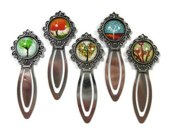 Tree Glass Cabochon  Book Mark Choose One (S1)