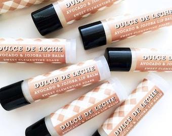 Dulce de Leche Lip Balm, Chap Stick, Lip Sheen, Moisturizing Avocado and Jojoba Oil Lip Balm
