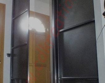Portes Et Serrures Etsy FR - Porte placard coulissante jumelé avec ouvrir porte blindée