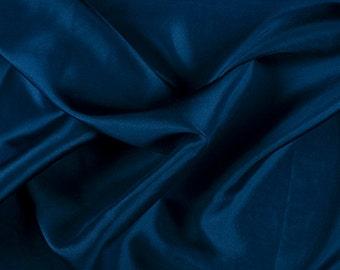 "45"" Wide 100% Silk Habotai Dark Blue-Wholesale by the Yard (2000M151)"