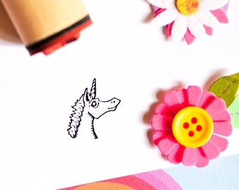 Magical Unicorn Rubber Stamp