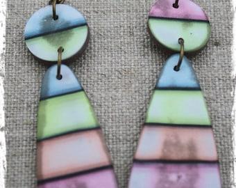 """shadow"" polymer clay earrings"