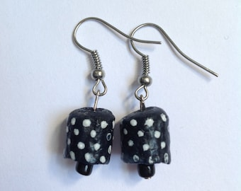 Hand Painted Polka Dot Earrings