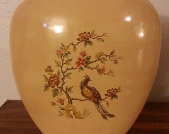 Bird and Flowers Vase