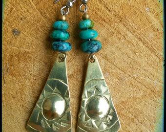 Etnik Earrings with turquoise