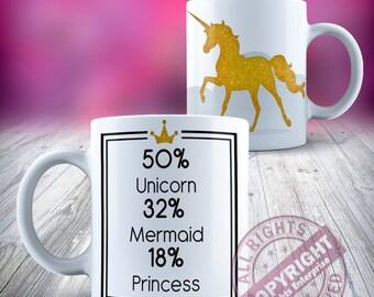 Licorne 50 pour cent Licorne pour cent 32 pour cent 18 sirène princesse or céramique 11oz tasse à café thé de notre gamme de tasse en céramique