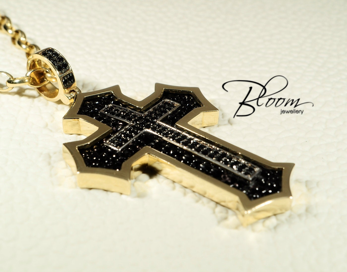 Unique mens gold cross necklace 14k solid gold cross zoom mozeypictures Choice Image