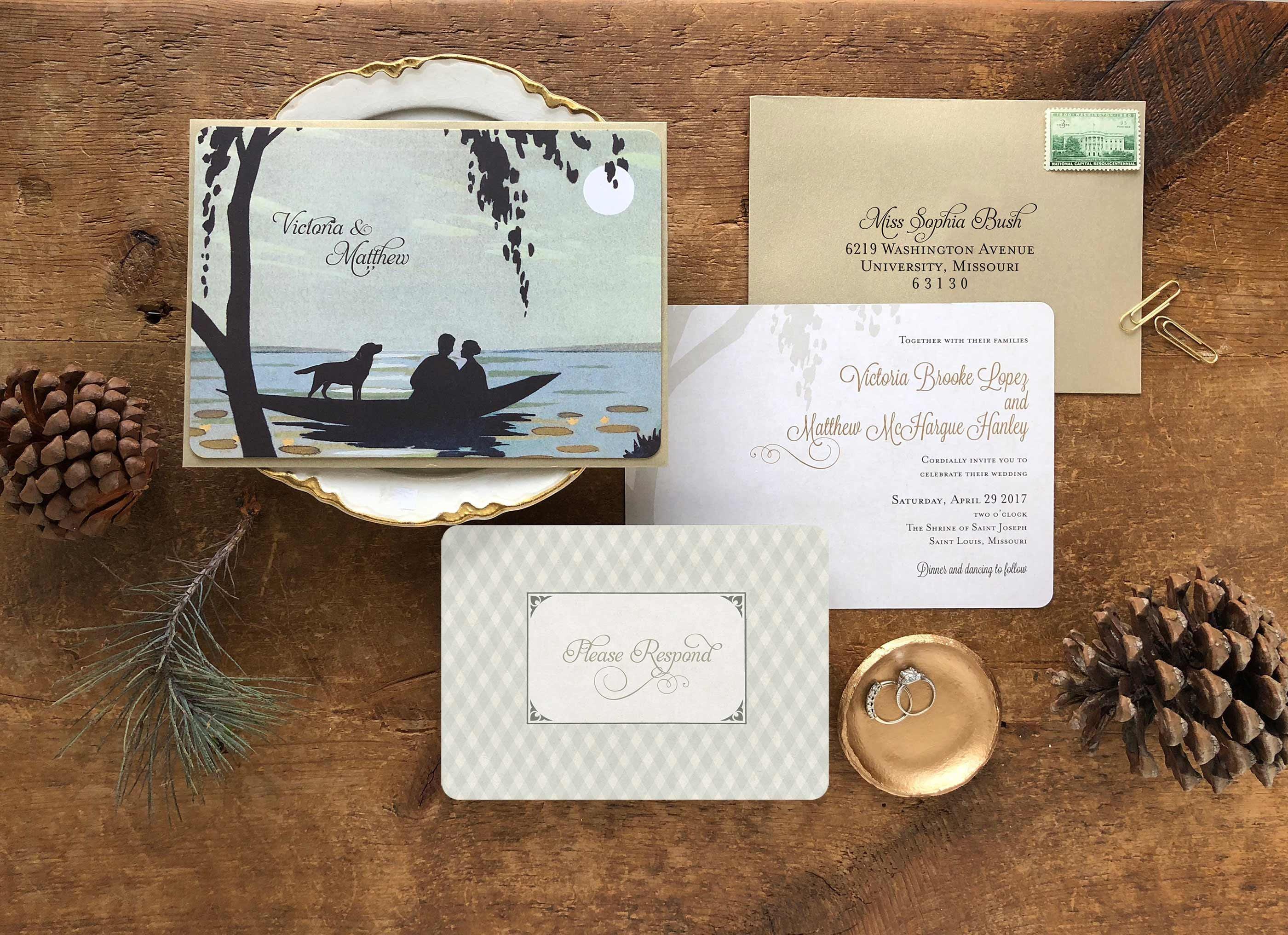 Lake Themed Wedding Invitations: Destination Wedding Lake Wedding Invitations Ocean Wedding