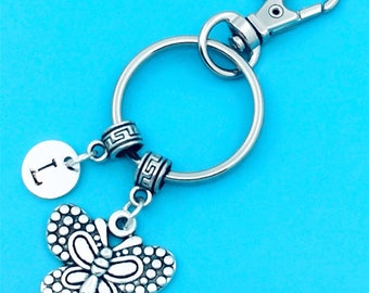 Beautiful Butterfly Keychain, Butterfly Key Chains, Custom Any Charm, Butterfly Keyring, Personalized Keychain, Butterfly Key Rings, Insect