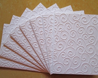 Embossed Card Set of 8/ Embossed Cards Set/ Note Card Set/ Stationery Cards Set / All Occasion Cards/ Wedding Stationery/ Happy Birthday set