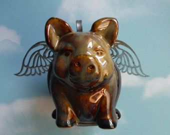 Flying Pig Figurine. PIGURINE