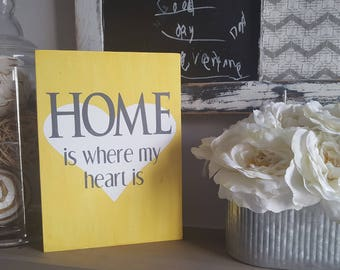 Home is where the heart is sign, home is where the heart is wood sign, home sweet home sign, home is where my heart is sign, wood home sign