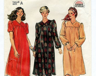 Vintage Butterick 3928 Womens Very Loose Fit Dress UNCUT Sewing Pattern Boho Festival Peasant Maternity - Sizes 8 10 12 XS S Bust 31 32 34