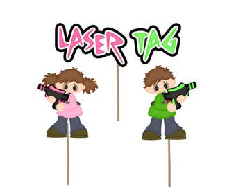 laser tag stickers laser tag birthday party laser tag favor rh etsy com Water Games Clip Art Water Games Clip Art