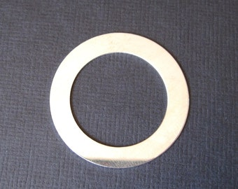 ExTRA LARGE : Sterling Silver 1.5 inch Round Circle Blank Washer 22 Gauge -Bulk Option Available