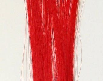 Candy Stripers Fire Engine Red Furious Fuchsia Pink Bright Long Hair Extensions Clip In Barrette Synthetic Straight - More Colors
