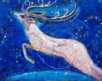 Flight of the Reindeer Goddess - Pagan Art