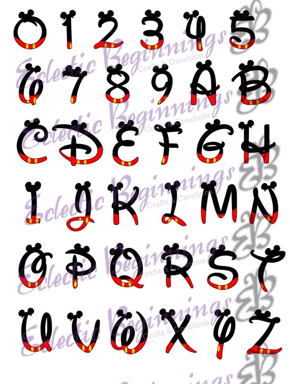 Alphabet png digital file diy print clip art mickey mouse thecheapjerseys Choice Image