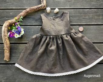 Linen dress, summer dress, Bullerbükleid