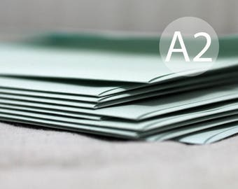 "25 A2 Metallic Mint Envelopes - Metallic Mint Green Envelopes - 4.375 x 5.75 inches (4 3/8"" x 5 3/4"")"