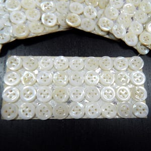 1 Card of 36 Vintage French Mother-of-Pearl Buttons