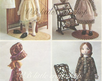 Rag Doll sewing pattern. Vintage pattern copy. Instant PDF download!
