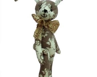 Hurdy Gurdy soft toy rabbit sewing pattern (digital)