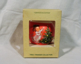 Vintage 1979 Hallmark Granddaughter Ornament