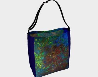 Red and blue Tote, eco friendly, beach bag, bag grocery bag shoulder bag, handbag, purse, carrying bag shoulder bag