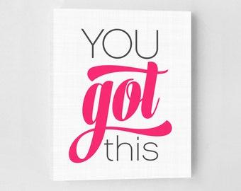 Inspirational Quote, Teenage Girl's Room, Girls Bedroom Art Print, Motivational Art, Typography Print, Typography Wall Art, Inspirational