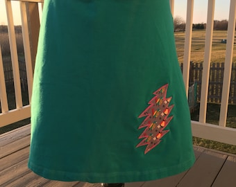 Grateful Dead Inspired Skirt With Lightening Bolt Appliqué